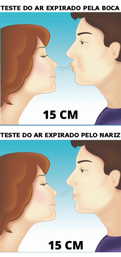 Teste do hálito a 15 cm